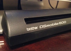 Brother DSmobile 600 scanner black lines