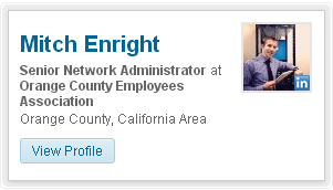 Mitch Enright LinkedIn Account